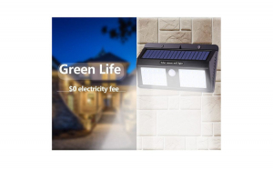 Lampa Cu LED Dubla Solara Si Senzor De Miscare 40 x LED