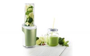 Nutriblender juicer Trisa Power Smoothie 6930.2410, cutit cu 4 lame, 21.000rot/min, Verde