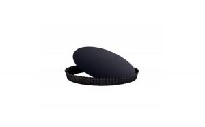 Forma pentru tarta cu baza detasabila, Metal, Negru