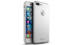 Husa Apple iPhone 7 IPAKY Full Cover 360 Argintiu + Folie Cadou