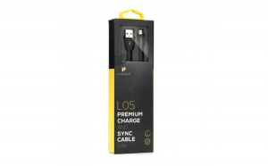 Cablu de date/incarcare Puridea, Quick charge, Micro USB, Negru