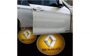 Proiectoare Portiere cu Logo Renault -