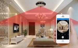 Mini camera-Cloud IP Wireless, cu unghi 360 grade si urmarire live prin aplicatie