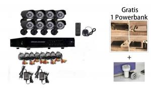 Kit Supraveghere CCTV, 8 camere, interior/exterior, AHD, 1080P