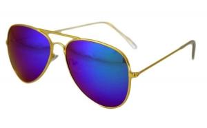 Ochelari de soare Aviator - Albastru/Auriu