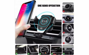 Incarcator universal, pentru masina, wireless, compatibil cu iPhone si Samsung