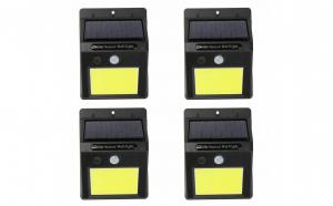 Set 4 lampi solare de perete cu senzor de miscare si lumina cu 48 leduri COB