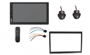 Mp5 Player Mirror Black,VW Passat B5.5, Rtm Online, Full Digital, Usb,Camera fata si spate dome, Touchscreen, Rama, Prinderi