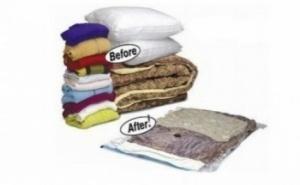 Bucura-te de mai mult spatiu in casa ta: 4 saci in vid vacuum 60 x 80 cm, la doar 24 RON in loc de 90 RON