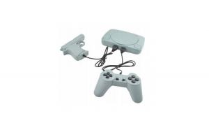 Consola pentru jocuri de televizor, 2x controller, gri