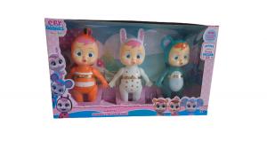 Set 3  figurine Baby Cry