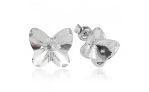 Cercei argint 925 cu swarovski elements fluturas 10 mm