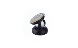 Suport auto pentru telefon, magnetic, rotativ 360 grade, metalic, Argintiu, cu Ancora