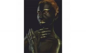 Tablou Canvas Gold Body, 60 x 90 cm, 100% Bumbac