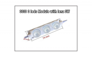 Modul LED 3 SMD 3W 24V ALB  COD: 7520-3LED-3030