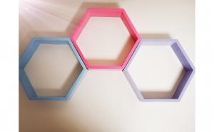 Raft de perete Hexagon diferite culori