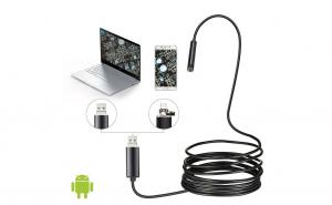 Camera endoscopica, 6 x LED, USB, 10 met