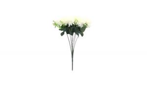 Floare artificiala decorativa pentru vaza, alb, 38 cm