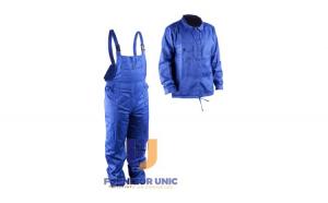 Costum Albastru Haina si Pantalon cu Pieptar