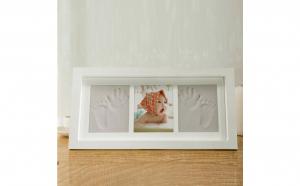 Tablou cu rama foto si 2 amprente, Decoratiuni Casa