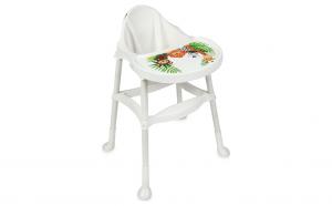 Scaun de masa pentru bebelusi ,alb