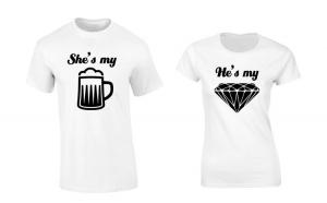 Set de tricouri albe She's my beer COD
