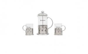 Infuzor din sticla pentru ceai sau cafea Grunberg, 2 Cani, Capacitate 600 ml GR364, la 49 RON in loc de 89 RON