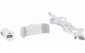 Kit auto 3 piese, incarcator USB 1A, 12/24v, Dunlop