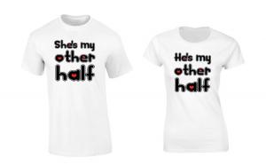 Set de tricouri albe She/He's my other
