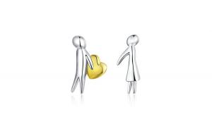 Cercei din argint 925 Accept My Heart Lover Couple