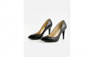 Pantofi stiletto comozi din piele naturala ,negru sau nude, cu toc subtire 9cm ,SPD25415