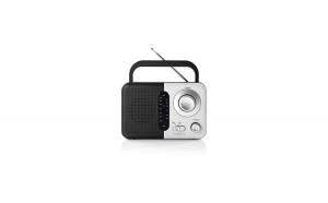Radio portabil FM cu maner 2.4W negru alb Nedis