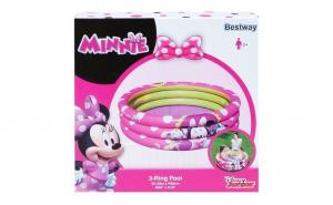 Piscina pentru copii Bestway, mica cu 3 inele, Minnie Mouse