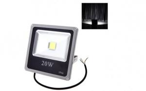 Proiector LED SMD 20W, economic, slim 6500K, lumina rece, 220V de interior si exterior, rezistent la apa - C46
