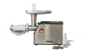 Masina de tocat Zass ZMG 07, 1800W, cutit otel inoxidabil, acesoriu de rosii inclus Black Friday Romania 2017