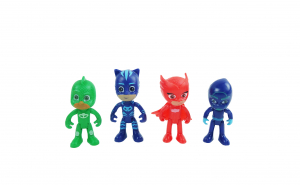 Set figurine Eroi in Pijama, 4 piese