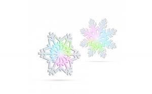 Fulg de zapada luminos LED RGB - 10 cm,