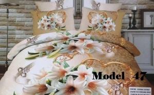 Lenjerie 5D de Pucioasa, Bumbac Satinat 6 piese , cu modele deosebite pentru a da o nota de eleganta si un ambient placut in dormitorul tau la 139 RON de la 269 RON !