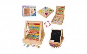Joc educativ multifunctional din lemn cu numaratoare