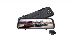 Camera auto DVR oglinda 10 inch, TouchScreen 12MP Reflection Vision, Full HD  Unghi 170 Grade + Card MicroSD 32GB