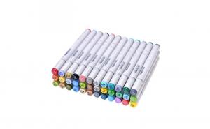 Set markere pentru colorat cu 2 capete Art Marker, 36 culori
