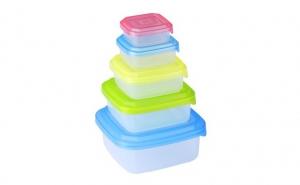 Set: 5 caserole din plastic + capacla doar 20 RON in loc de 45 RON