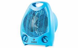 Aeroterma electrica Zass ZFH 02C, culoare albastra, 2 trepte de putere: 1000W / 2000W