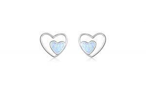 Cercei din argint 925 Heart in Heart