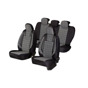 Huse scaune auto OPEL CORSA C 2000-2009  dAL Luxury Negru,Piele ecologica + Textil