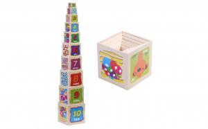 Turn Montessori lemn 10 Cuburi