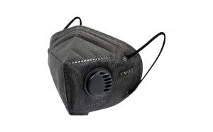Set 2xmasca faciala tip kn95, neagra, cu valva