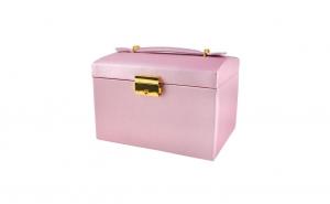 Caseta bijuterii cu 3 sertare, roz