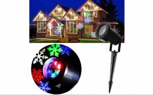 Proiector lumini laser de exterior, imagini fulgi de zapada, colorati