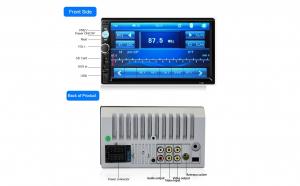 Mp 5 player 2 din, Mirrorlink, Preluare comenzi volan, ecran 7 inch,Bluetooth, Telecomanda